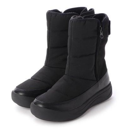 イング ing 【晴雨兼用】【防滑】【防寒】インナーファーウィンターブーツ (ブラック)
