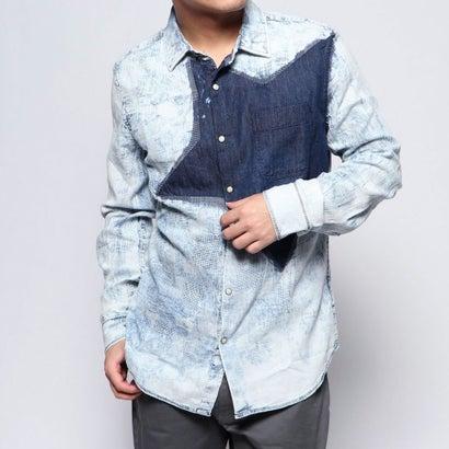 デシグアル Desigual シャツ長袖 COLM (ブルー)