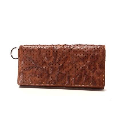 カナザワイチキュウロクイチ Kanazawa1961 かぶせ長財布(ブラウン×イエロー)