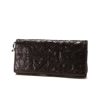 カナザワイチキュウロクイチ Kanazawa1961 かぶせ長財布(ブラック×イエロー)