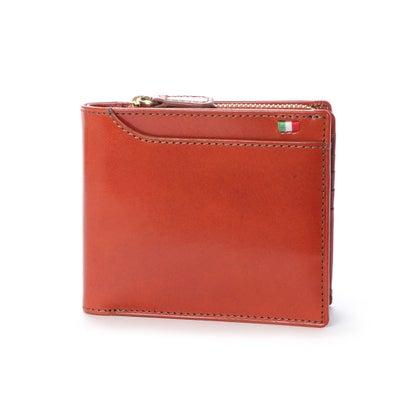 ミラグロ Milagro 23ポケット 二つ折り財布・小銭入れ付き (オレンジ)