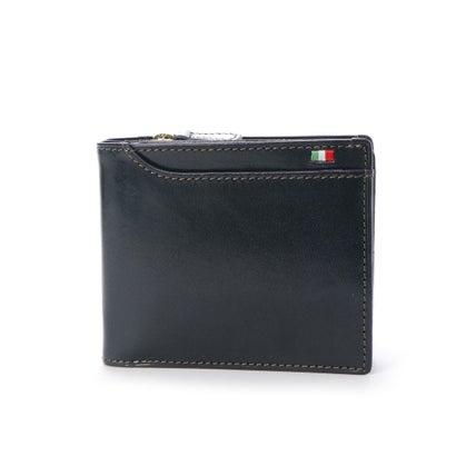 ミラグロ Milagro 23ポケット 二つ折り財布・小銭入れ付き (ネイビー)