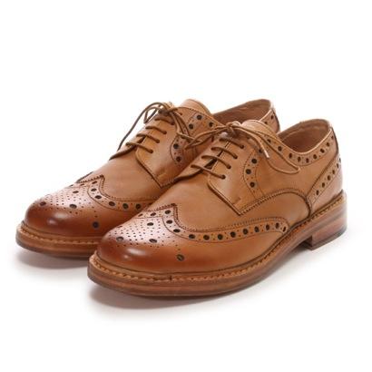ロンドンシューメイク London Shoe Make グッドイヤーウエルトオールレザーハンドメイド外羽根ウィングチップ(ライトタン)
