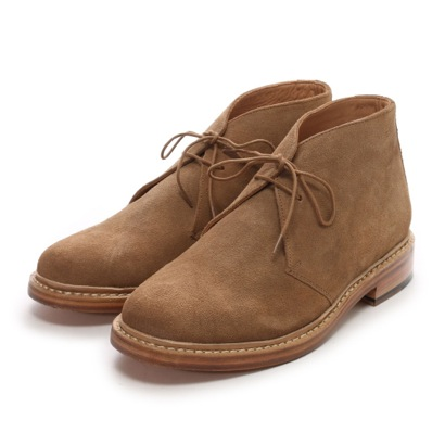 ロンドンシューメイク London Shoe Make グッドイヤーウエルトオールレザーハンドメイドスェードカントリーブーツ(ベージュ)