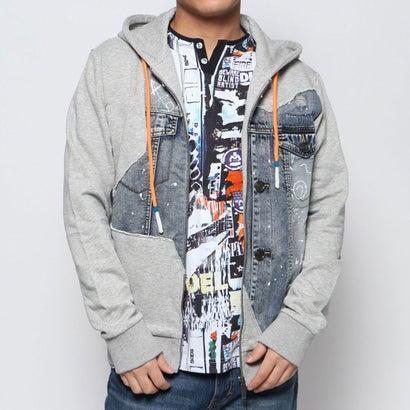 デシグアル Desigual スウェットジャケット HUNTER (グレー/ブラック)