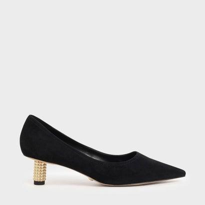【2020 SPRING】エンベリッシュドキトゥンヒールパンプス / Embellished Kitten Heel Pumps (Black)