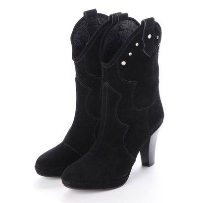 【アウトレット】シューズラウンジ shoes lounge 【本革】ミドルブーツ 3629154BS (ブラック)