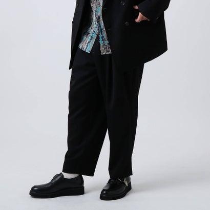 ティーケー タケオ キクチ tk.TAKEO KIKUCHI 3タックワイドテーパードスラックス (ブラック)
