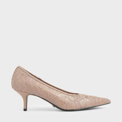 【2020 SPRING】レースポインテッドパンプス / Lace Pointed Pumps (Nude)
