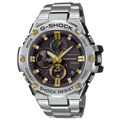 【G-SHOCK】G-STEEL(Gスチール) / クロノグラフ&スマートフォンリンク / GST-B100D-1A9JF (ブラック×ゴールド)