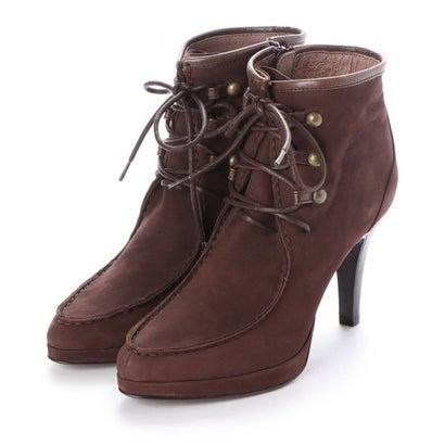 【アウトレット】シューズラウンジ shoes lounge 【本革】ショートブーツ 3655924DBRS/ (ダークブラウン)