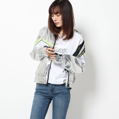 ゲス GUESS ANTHIA NYLON JACKET (SILVER)