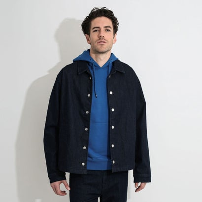 ゲス GUESS STRETCH DENIM COACH JACKET (FLATBUSH WASH)