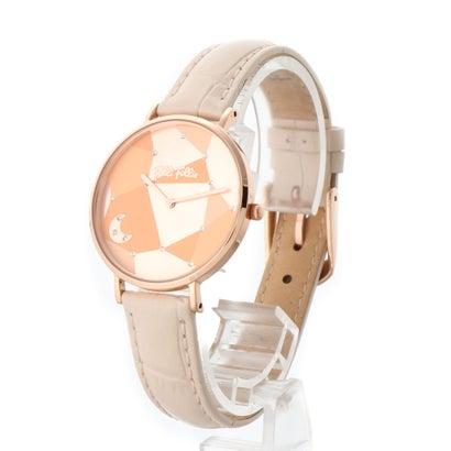 フォリフォリ Folli Follie STARGAZE ムーンレザーウォッチ/腕時計 (ピンク)