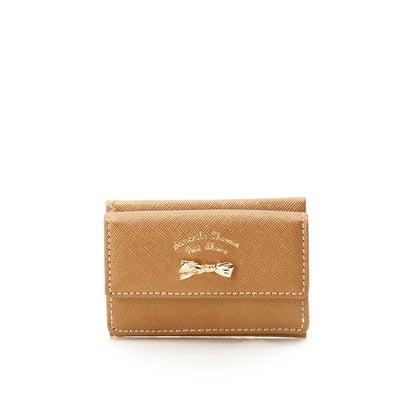 サマンサタバサプチチョイス アシンメトリーリボンシリーズ(折財布) ベージュ