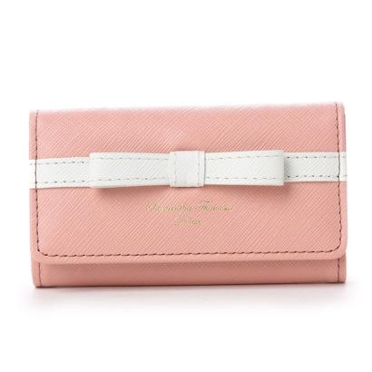 サマンサタバサデラックス ライン入りシンプルリボン小物(キーケース) ピンク