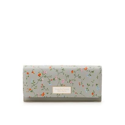 サマンサタバサプチチョイス フラワープリントシリーズ(長財布) グレー