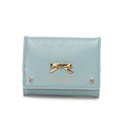 サマンサタバサプチチョイス ダスティーシンプルリボン ミニ財布(ブルーグレー)