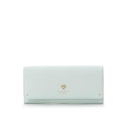 サマンサタバサプチチョイス ハートブローチシリーズ(かぶせ長財布) ライトブルー