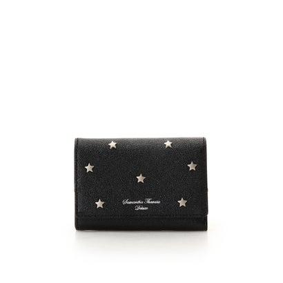 サマンサタバサデラックス スターモチーフ三折財布 ブラック
