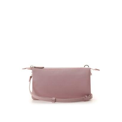 サマンサタバサプチチョイス シンプルレザーロゴ ウォレットバッグ ピンク