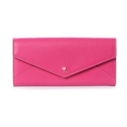 サマンサタバサプチチョイス プチハートラブレターシリーズ(かぶせ長財布) フューシャピンク