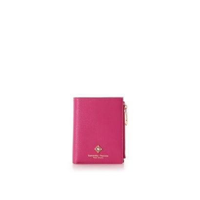 サマンサタバサプチチョイス スクエアストーン 折財布 フューシャピンク