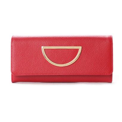 サマンサタバサ VioletD(バイオレットD)新色かぶせ長財布 レッド
