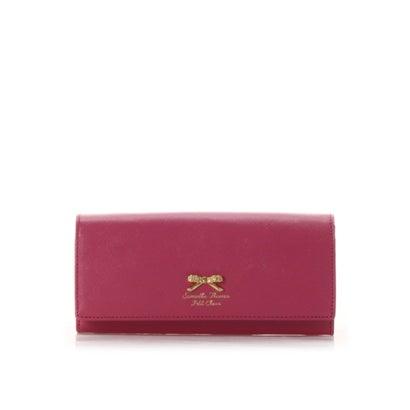 サマンサタバサプチチョイス フラワーリボンプレート(かぶせ長財布) フューシャピンク