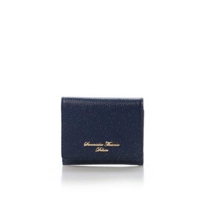 サマンサタバサデラックス シンプルラメ三折財布 ネイビー