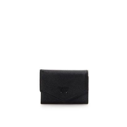 サマンサタバサ フリル 折財布 ブラック