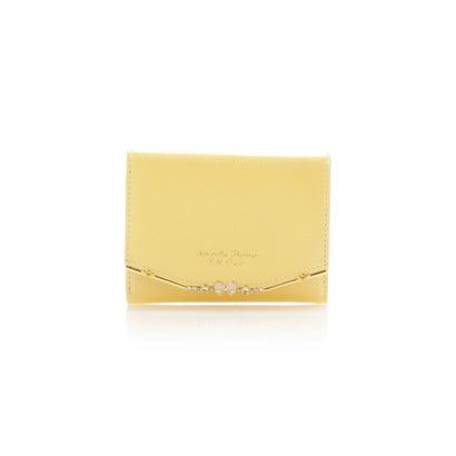 サマンサタバサプチチョイス リボンバー金具シリーズ折財布 イエロー