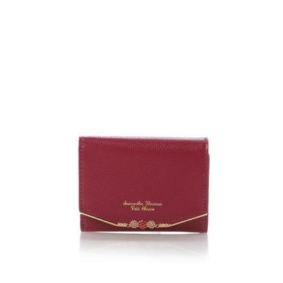 サマンサタバサプチチョイス フラワーバー金具シリーズ(折財布) ワインレッド