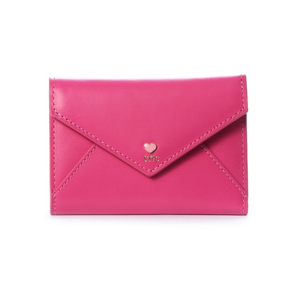 サマンサタバサプチチョイス プチハートラブレターシリーズ(折財布) フューシャピンク