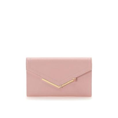 サマンサタバサプチチョイス シンプルフラワーバー金具シリーズ マルチ長財布 ピンク
