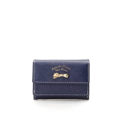 サマンサタバサプチチョイス アシンメトリーリボンシリーズ(折財布) ネイビー