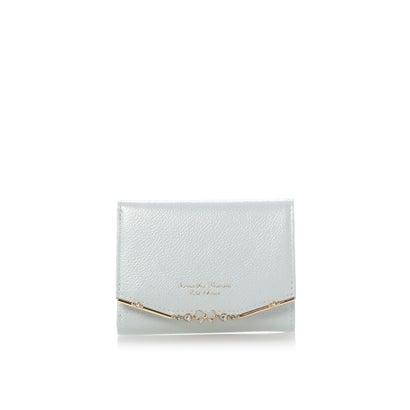 サマンサタバサプチチョイス リボンバー金具エナメルシリーズ(折財布) ライトブルー