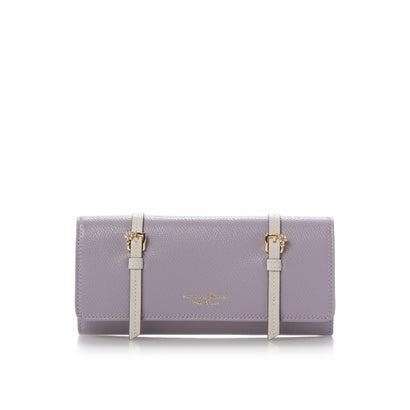 サマンサタバサプチチョイス ダブルベルトデザインシリーズ(かぶせ長財布) ラベンダー
