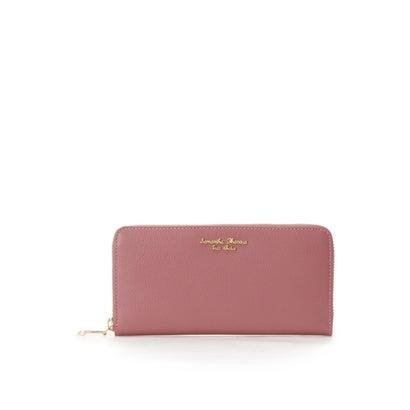 サマンサタバサプチチョイス シンプルロゴシリーズ(ラウンドジップ長財布) チェリーピンク