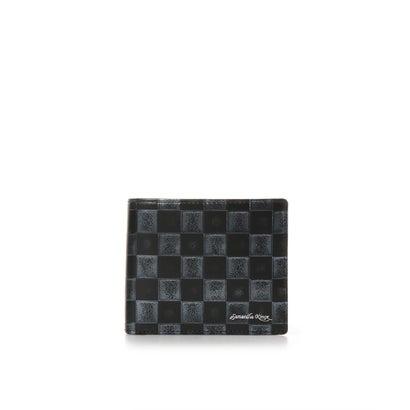 キングズ バイ サマンサタバサ 市松模様柄 バイカラー 折財布 ブラック
