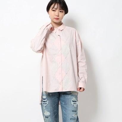 アールエヌエー RNA アーガイルパッチシャツ (ライトピンク)