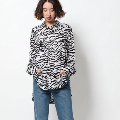 アールエヌエー RNA ゼブラ柄BIGポケットシャツ (ホワイト×ブラック)
