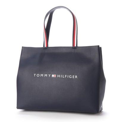トミーヒルフィガー TOMMY HILFIGER ショッパーミニトートバッグ (ネイビー)