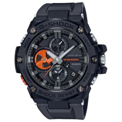 【G-SHOCK】G-STEEL(Gスチール) / クロノグラフ&スマートフォンリンク / GST-B100B-1A4JF (ブラック×オレンジ)