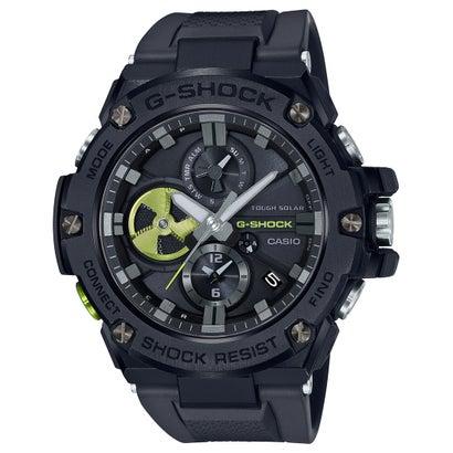 【G-SHOCK】G-STEEL(Gスチール) / クロノグラフ&スマートフォンリンク / GST-B100B-1A3JF (ブラック×グリーン)