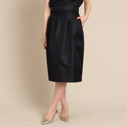 アナトリエ anatelier ウエストコンシャスシルク混スカート (ブラック)