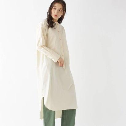 ドレステリア DRESSTERIOR 【2WAY/洗える】オーガニックコットンシャツドレス (ホワイト)