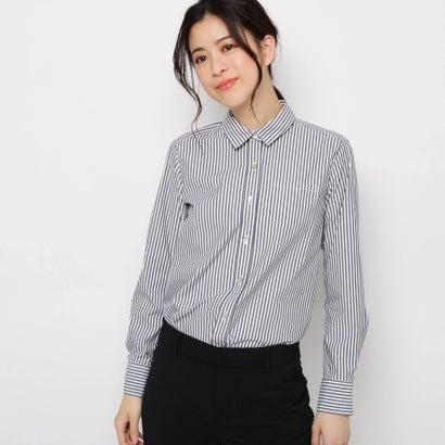 ソフール Sofuol ストライプコットンシャツ (ブラック)