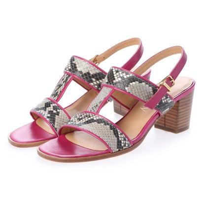 【アウトレット】ヨーロッパコンフォートシューズ EU Comfort Shoes looky チャンキーヒールサンダル(4258-B) (ピンク)