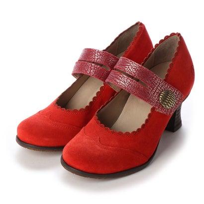 ヨーロッパコンフォートシューズ EU Comfort Shoes Casta 1本ベルトパンプス(CT100320) (レッド)